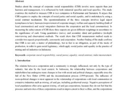 Measuring Corporate Social Responsibility for Local Communities in Mining, Oil and Gas Industries, The Case of Indonesia